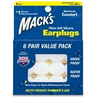 Mack's Pillow Soft Adult Silicone Ear Plugs Value Pack - 6 Pair