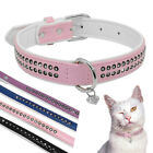 Bling Rhinestone Dog Collars with Heart Pendant for Chihuahua Yorkie XS S M L