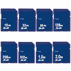 16 MB 32MB 64MB 128MB 256MB 512MB 1GB 2GB SD Secure Digital Standard Memory Card