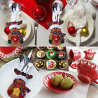 Christmas Knife And Fork Bag Kitchen Cutlery Tableware Holder Pockets Xmas Decor