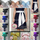 "2.7""x109"" satin sash belt ribbon F wedding bridal bridesmaid flower girls dress"