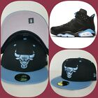 New Era Chicago Bulls Black / University Blue fitted hat Jordan 6 Retro UNC on eBay