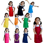 Baby Girl Boy Aprons Kitchen Lunch Garden Kid's Aprons Keep Cleaning Pinafore