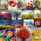 40 50cm Scenery Flowers Paint By Number Kit DIY Acrylic Oil Painting On Canvas