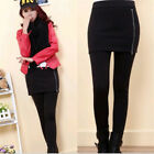 Womens Warm Winter Thick Skinny Slim Footless Leggings Stretch Pants With Skirt