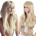 Long body wave blonde color wig Synthetic Hair full head wig