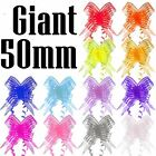 Giant 50mm Organza Butterfly Pull Bows - Craft Florist Pullbow Pew Craft Gift