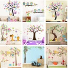 Nursery Removable Owls Tree Wall Stickers For Kids Room Home Decor*~*