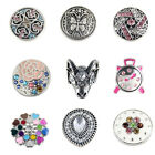 wholesales 18MM butterfly goat head heart snaps Buttons charms Fit Snap Jewelry