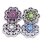 Wholesale Lots  Flower Rhinestone Snaps Buttons Fit 18mm Jewelry Accessories