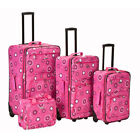 ROCKLAND Fashion 4 Piece Pearl Expandable Rolling Luggage Set by Fox Luggage