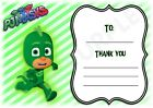PJ Masks - A6 Thank You For Coming Party Cards x 12 - Gekko Frame Design
