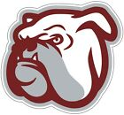 Mississippi State University Bulldogs B NCAA Color Die Cut Vinyl Decal / Sticker