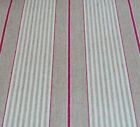 Oilcloth natural linen French red harbour stripe design wipe clean tablecloth