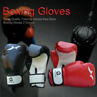 Adults Boxing Gloves PU Women/Men Sanda MMA Muay Thai Karate Mitts Training