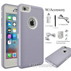 For Apple iPhone 6 6S Plus Protective Hybrid Shockproof Rubber Hard Case Cover