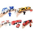 Magnetic Electric Train Toys Wooden Railway Track Electric Train Cabin Kit Gifts