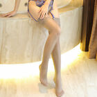 Ultrathin Lace Topped Sheer Thigh High Knee Stay Hold Ups Silk Stockings Night