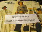 Vogue/Vogue Career Woman's Uncut Sewing Pattern 2nd Listing-Your Choice