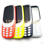 Full Housing Cover Case Front Frame+Back Cover With Keypad  For Nokia 3310 2017