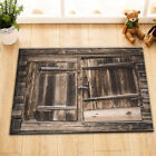 Waterproof Polyester Shower Curtain Bath Accessories Rustic Country Barn Door