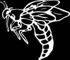 Wasp 1 Color Window Wall Vinyl Decal Sticker Printed Mascot Graphic