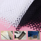 Fish Net Mesh Effect 170 x50cm Stretchy Craft Fabric Large Holes Black White DIY