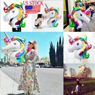 US Unicorn Large Rainbow Foil Helium Balloon Birthday Xmas Party Decor For Kids