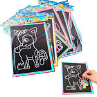 Colorful Magic Scratch Drawing Art Painting Paper Kids Educational Stick Toy*-*
