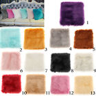 Square Artificial Wool Soft Warm Plush Throw Pillow Case Cushion Cover image