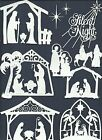 3 GROUPS COMBINED  NATIVITY-1 -2 BORDER DIE CUTS* SUB-SETS LOTS 6 - 24 PCS. READ