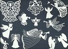 LOTS 4 -12 PCS. SUB-SETS ANGELS DIE CUTS* CHRISTMAS FILIGREE HORN WING HALO READ