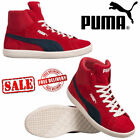 PUMA ARCHIVE LITE BASKET SHOES RED MID LEATHER HI-TOP RETRO BOOTS