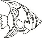 Tropical Fish #4 1 Color Window Wall Vinyl Decal Sticker Printed Mascot Graphic