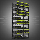 Lot Aluminum Open Air Frame Mining Rig Case 6/8 GPU Stackable With Fans