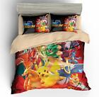 3D Pokemon Pikachu Anime Print Bedding Set Quilt Cover Duvet Cover 2 Pillowcase