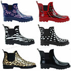 Shoes 18 Womens Rain Boots Rubber Short Ankle  Pull On Garden,Size 6-11