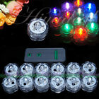 Submersible battery Operated LED TEA LIGHTS Floral Vase Waterproof Wedding Decor