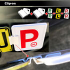 Clip It On P Plate Clips Car Number Licence Plate: 2 Piece L/P Set