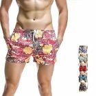 SEOBEAN new mens swimwear Patchwor shorts casual summer beach pants Board Shorts