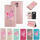 Blinking Flamingo Pattern PU Leather Wallet Flip Folio Case Cover for Samsung S5