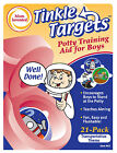 60 Pack Tinkle Targets,  Boys' Training Aid for Using the Big Boys Toilet  Ass't