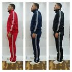 Mens TrackSuit Jogging Sweat Suit Gym Fit Cycling Suit 10 colors black red M-4XL