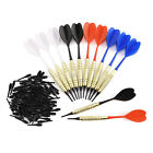 7-21st Dartpfeile Set Softdart Arrow flexible PVC Flight Schaft mit 100 Spitzen