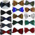 Vintage Pre-Tied Feather Bow Tie Formal Necktie Tuxedo Cravats Bowtie Wedding