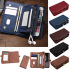 Leather Removable Wallet Magnetic Card Case Cover for Samsung Galaxy S8/S8 Plus