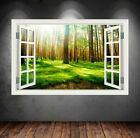 Full Colour Forest Woods Summer Wall Art Sticker Decal Bedroom Home Mural Wsdfc2