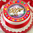JAMES BOND 007 CASINO PERSONALISED 7.5 INCH PRECUT EDIBLE CAKE TOPPER DECORATION $3.6 USD on eBay
