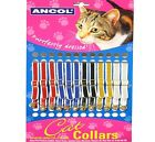 CAT COLLARS - (with Bell) - Ancol Standard Assorted Soft Pet Collers bp Kitten