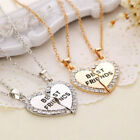 the best of foghorn leghorn - Best Friend Heart Silver Gold Tone 2 Pendants Necklace Bff Friendship Fashion